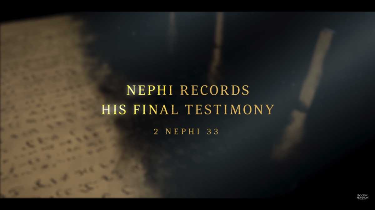 Nephi's testimony