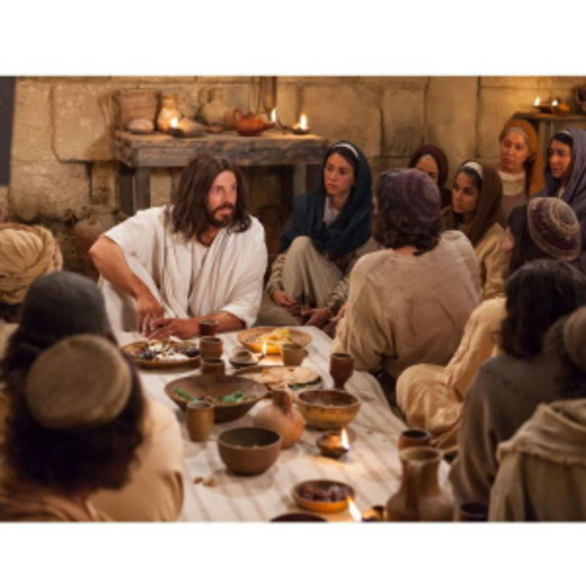 Jesus with His apostles