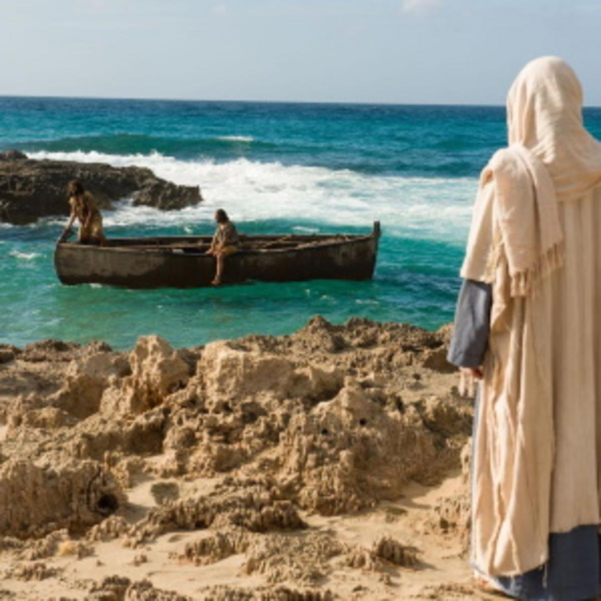 Jesus calling fishermen