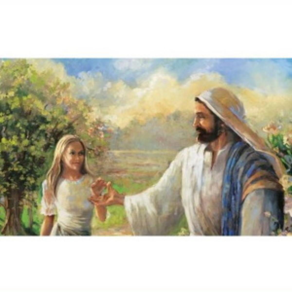 Woman with Jesus