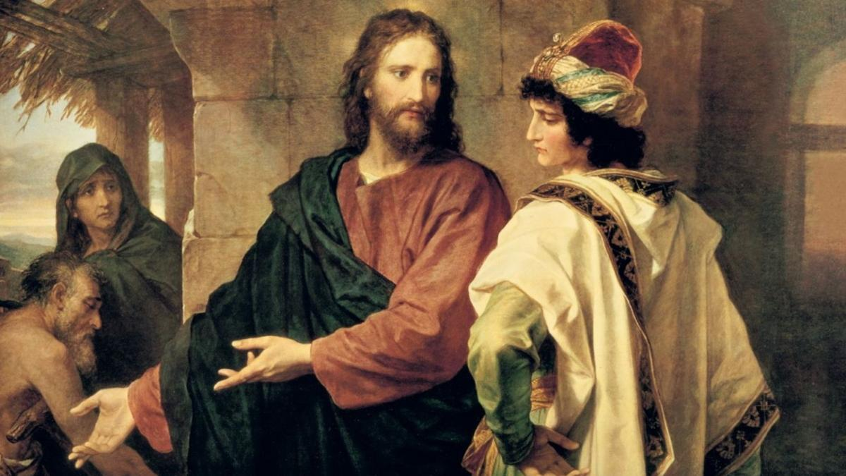 Jesus with rich ruler