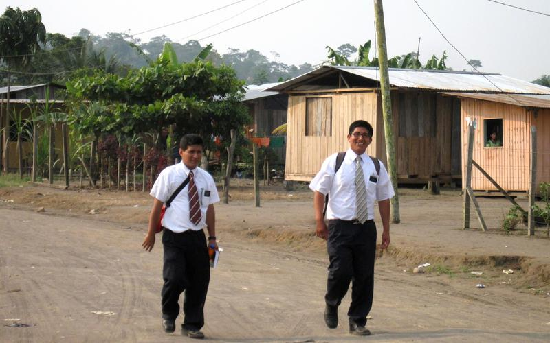 Misioneros en servicio en Ecuador