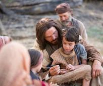 Jésus et un enfant