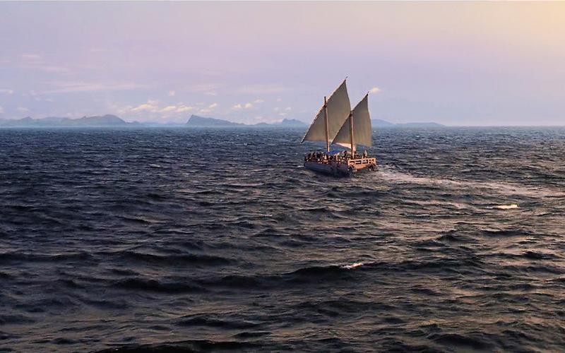 Nephis Schiff auf dem Meer