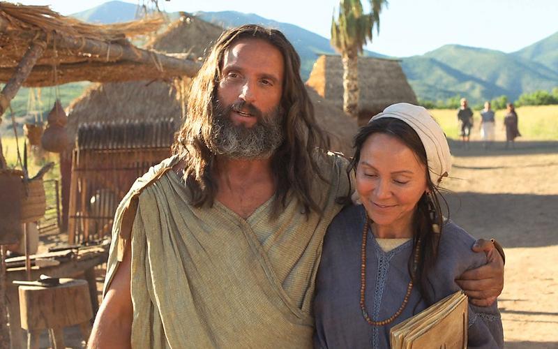 Nefi duke ecur i lumtur me gruan e tij.