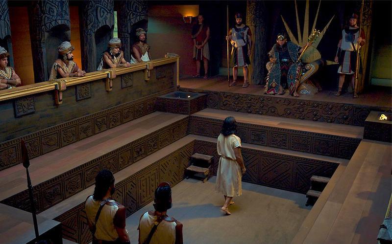 Abinadi depune mărturie în fața regelui Noe