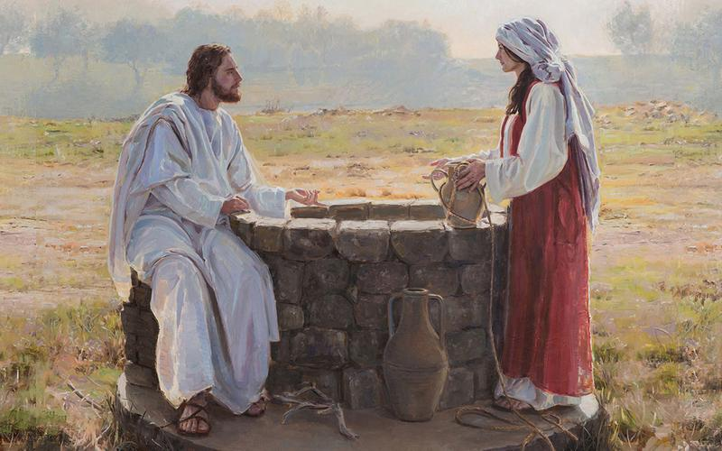 Christ and woman at the well