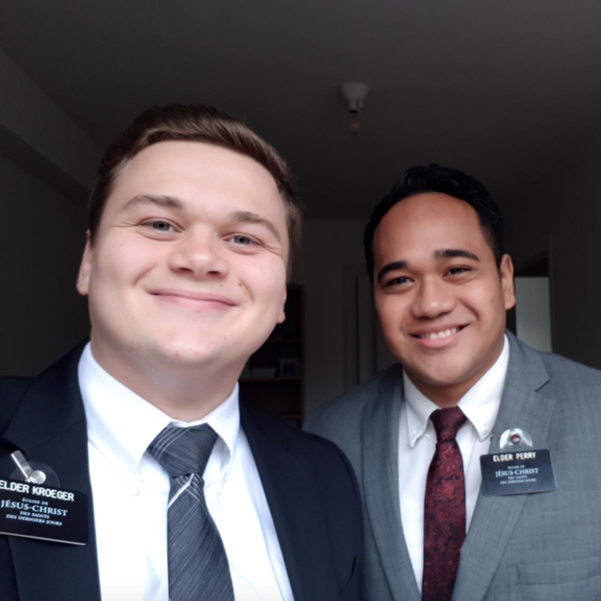 Elder Kroeger and Elder Perry