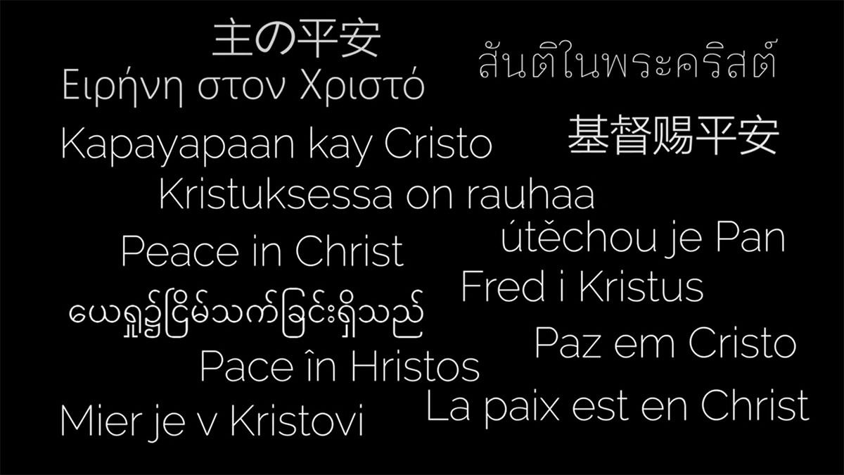 Peace in Christ in different languages