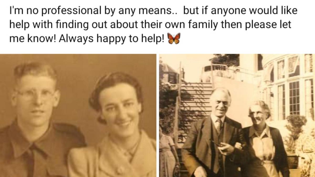 Facebook post about Family History