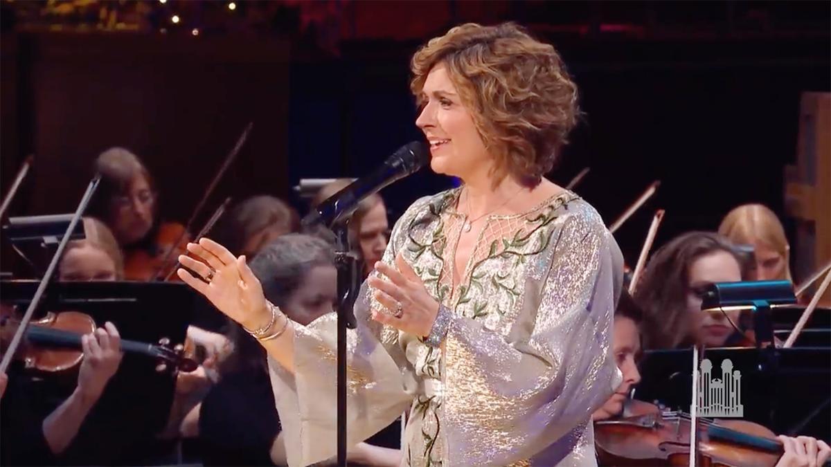 Sissel śpiewa z Orkiestrą Tabernakulum z Placu Świątynnego