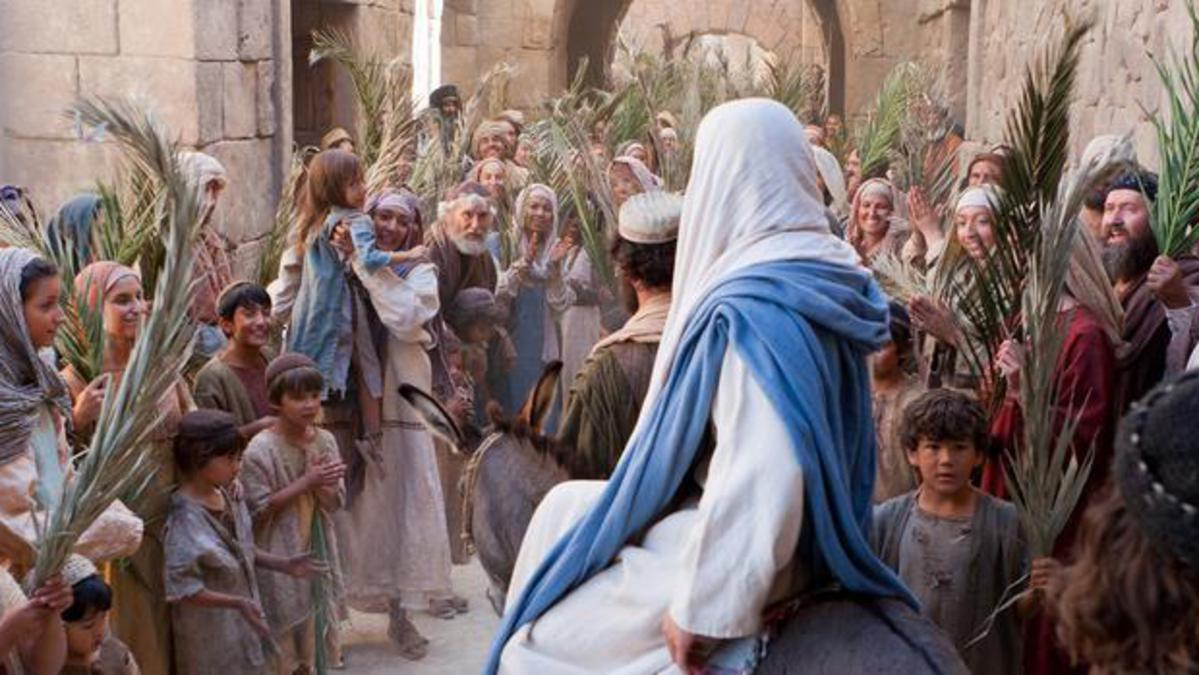 Jesus Christ on Palm Sunday