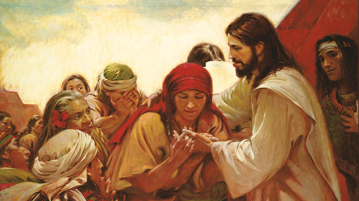 Jesus heals people on the American continent