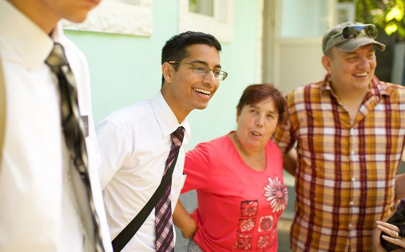 Missionaries with members