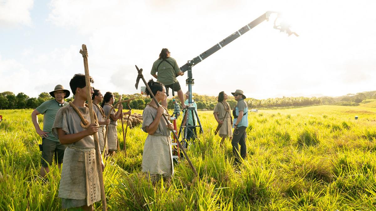 Záber zo zákulisia tretej série seriálu videí z Knihy Mormonovej