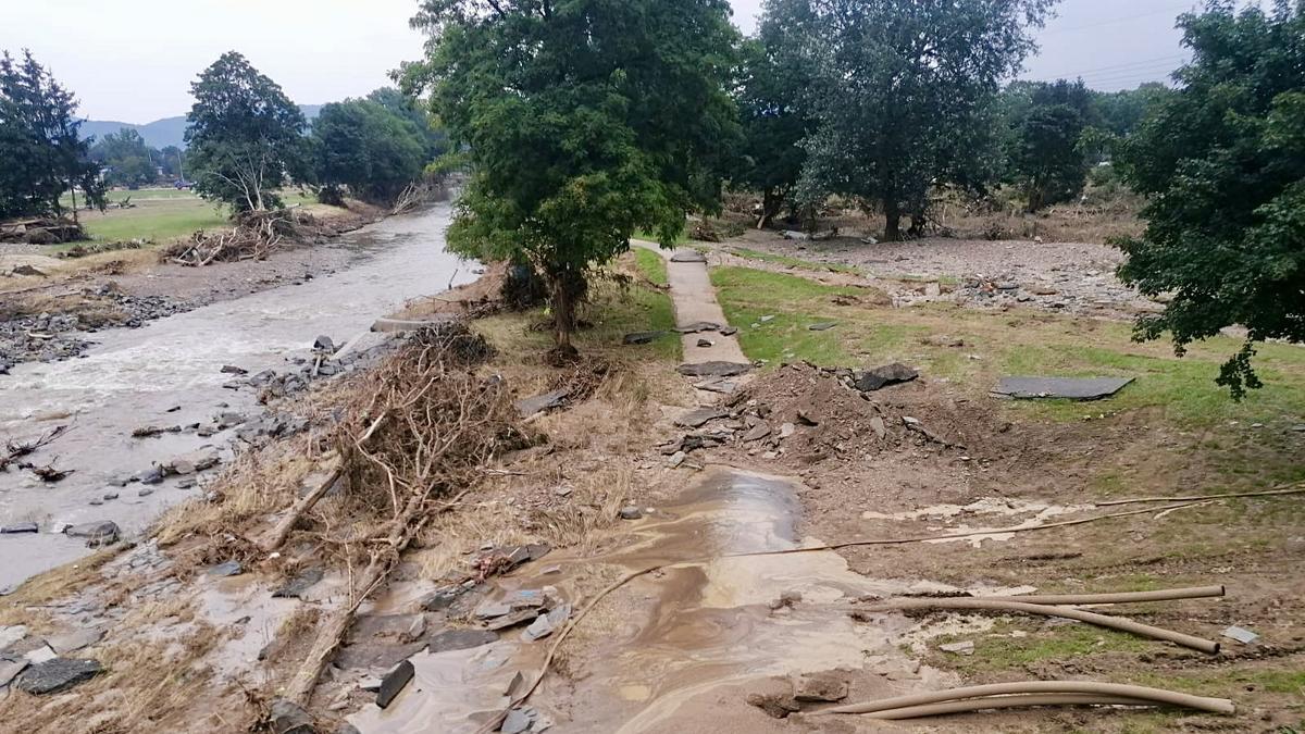 Škody v oblasti Eifel po záplavách