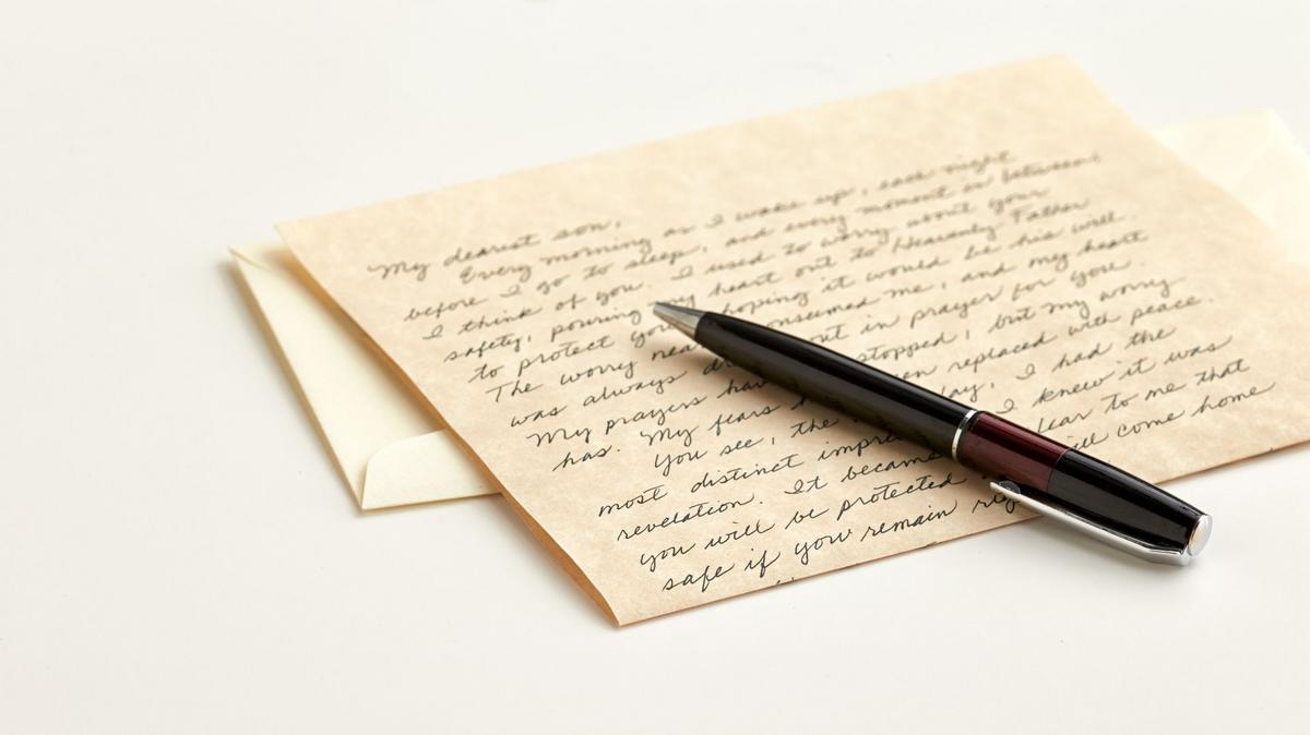 Letter envelope pen