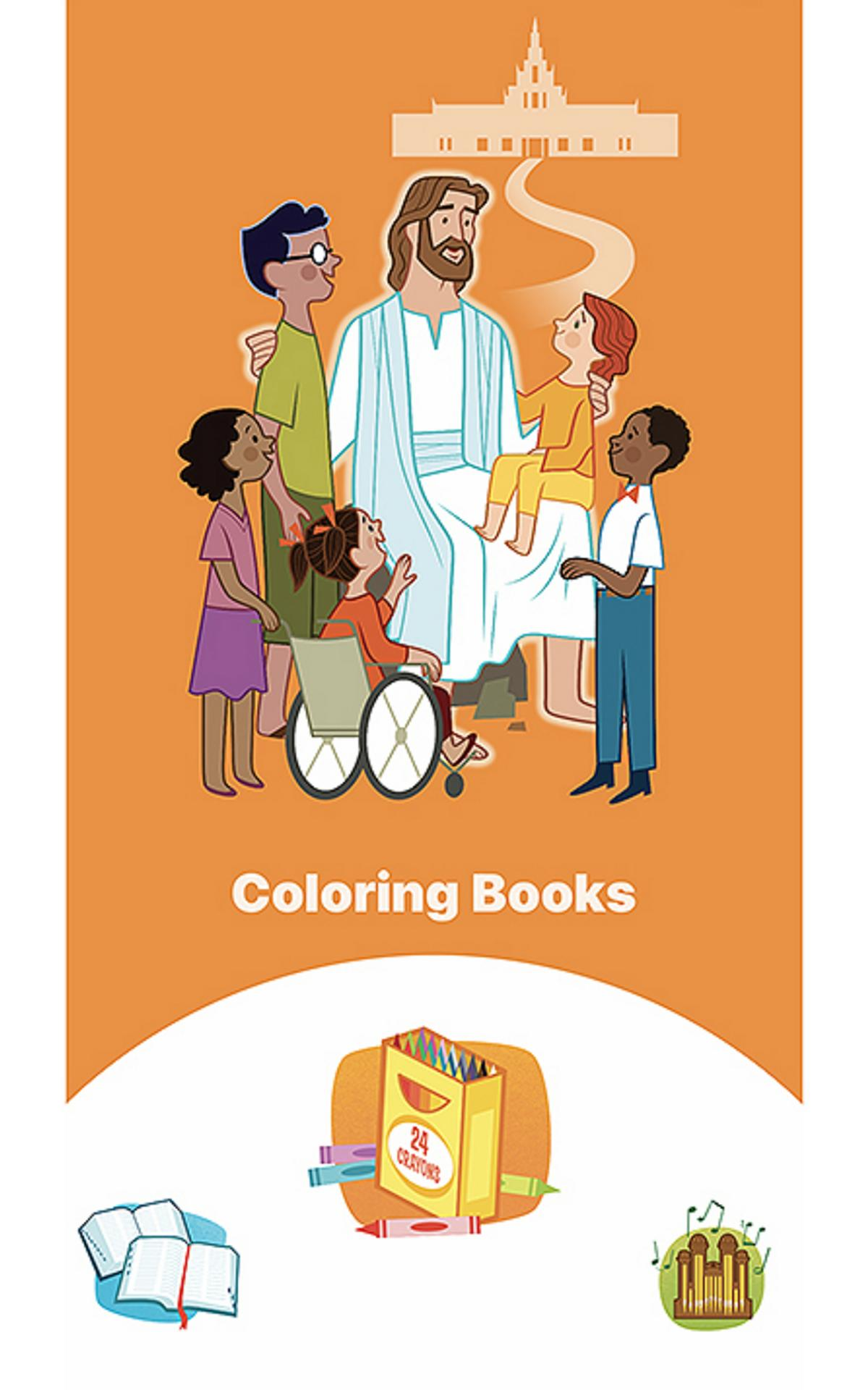 illustration of Jesus with children