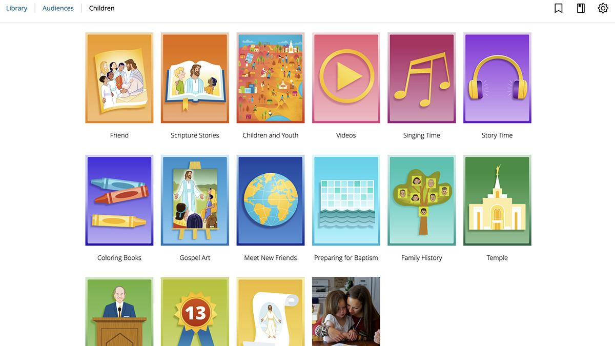 home page of online children library