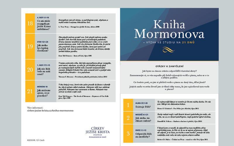 Kniha Mormonova – kalendář na 21 dnů