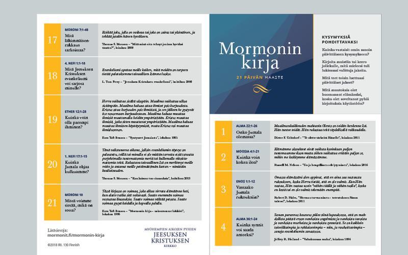 Mormonin kirja -kalenteri 21 päivälle