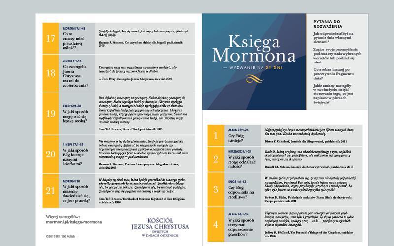 Kalendarz na 21 dni — Księga Mormona