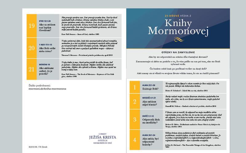 21-dňový kalendár Knihy Mormonovej