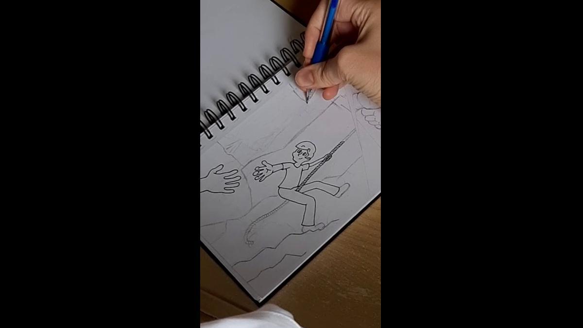 An Elder drawing.