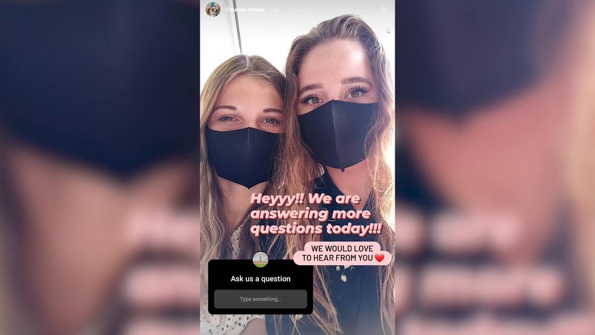 sister missionaries with fask mask