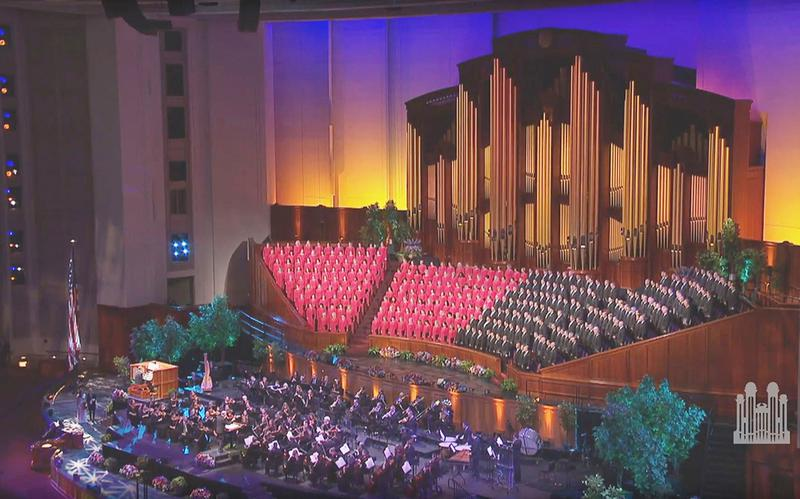The Tabernacle Choir at Temple Square singing in the Conference Center