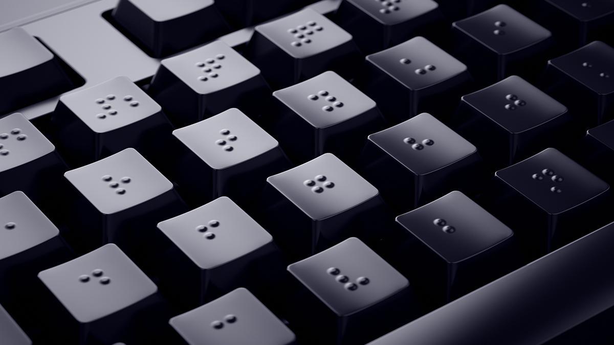 Teclado de ordenador en braille