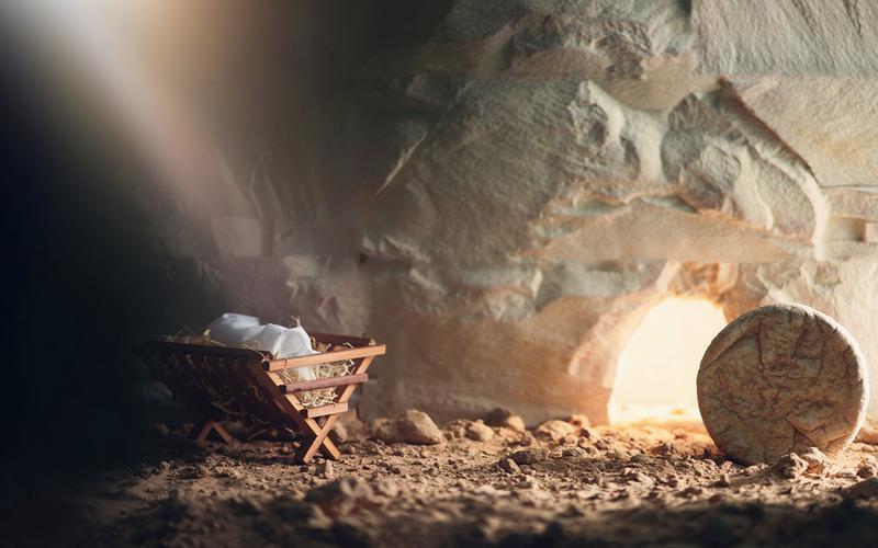Kristovo narodenie, smrť, vzkriesenie