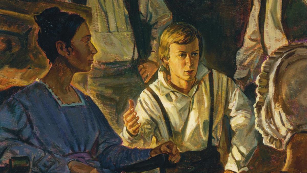 El joven José Smith enseñaba a su familia en cuanto a las cosas que recibía del Señor.
