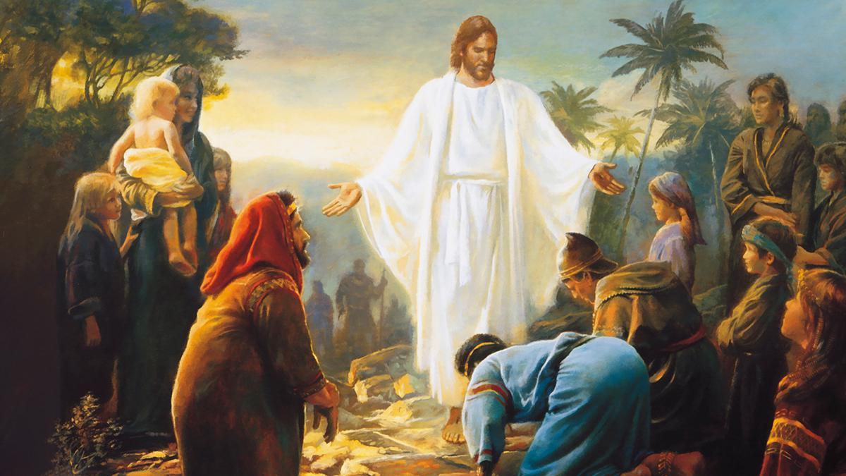 Jesus Kristus viser sig for folk i fordums Amerika