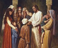 Jesús læknar blindan