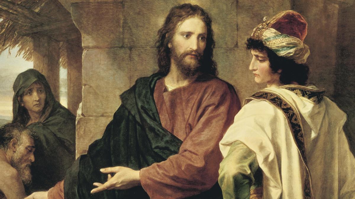 Ο Ιησούς Χριστός με έναν πλούσιο νεαρό άρχοντα