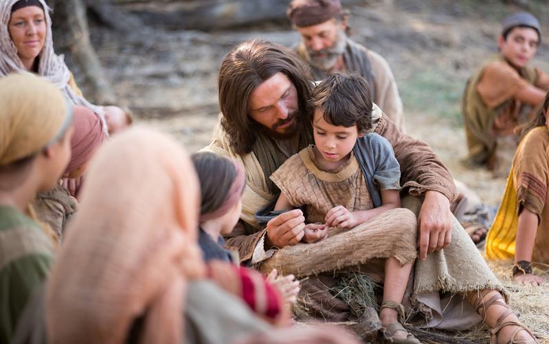 Egy kép Jézus Krisztusról és egy gyermekről