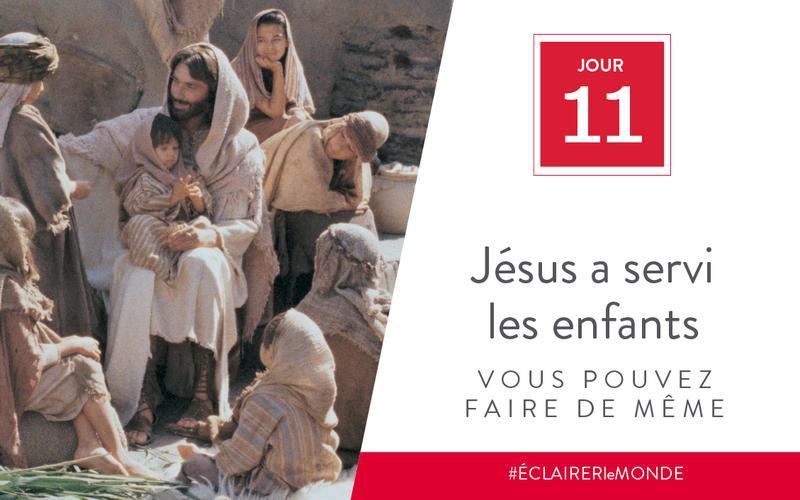 Jésus a servi les enfants, vous pouvez faire de même