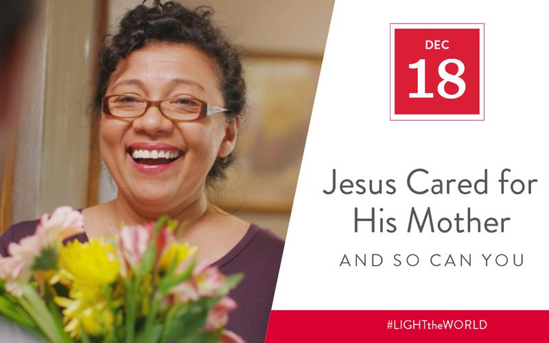 Jesus cared for his mother
