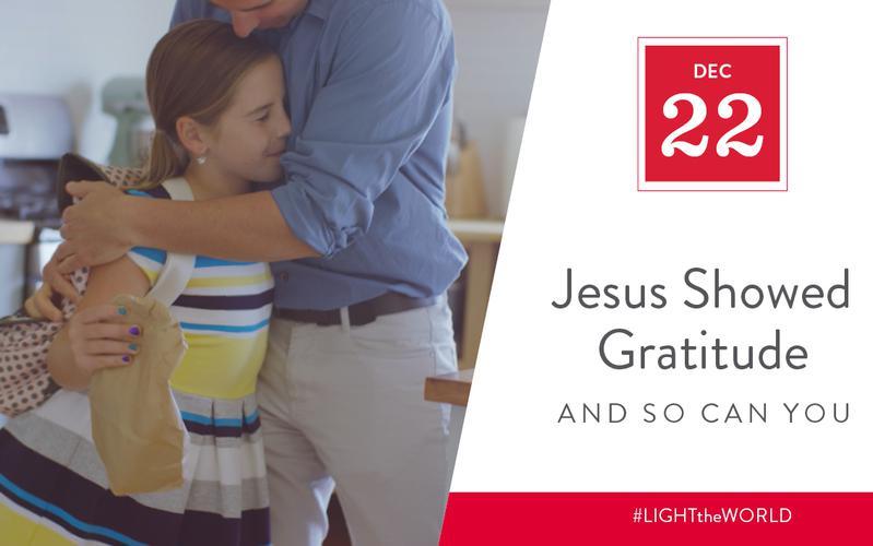 Jesus showed gratitude