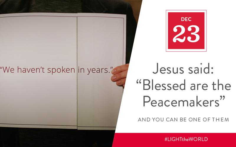 Jesus was a peacemaker