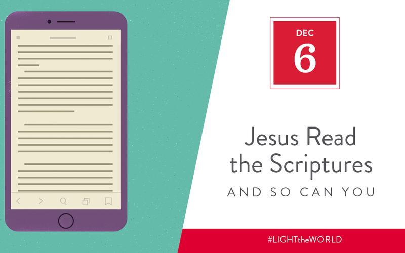 Jesus read the scriptures
