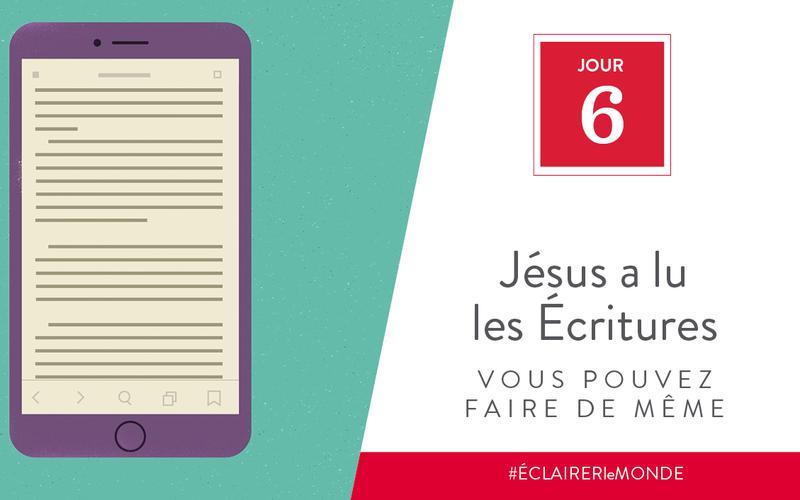Jésus a lu les Écritures, vous pouvez faire de même