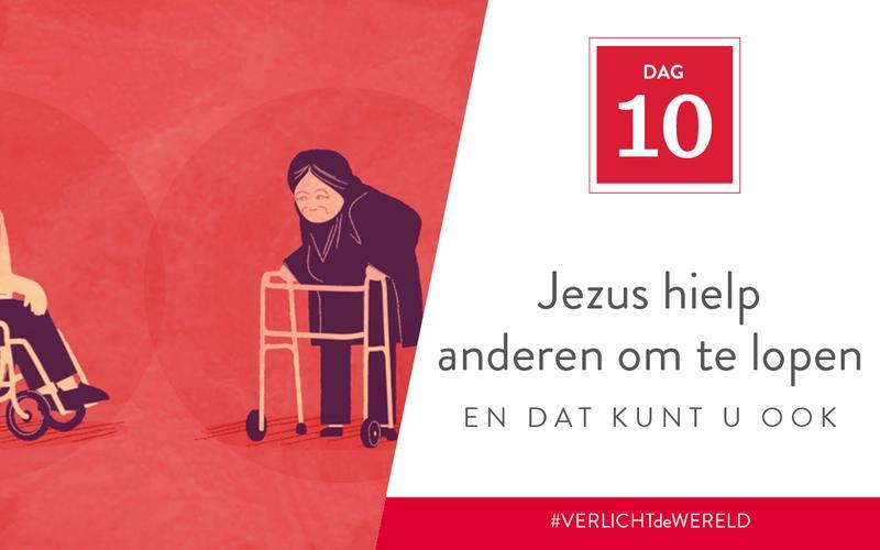 Jezus hielp anderen om te lopen en dat kunt u ook