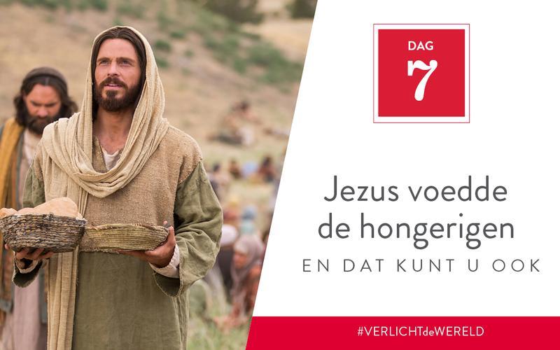 Jezus voedde de hongerigen en dat kunt u ook