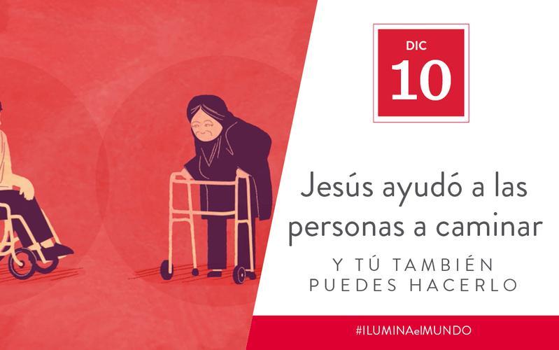 Jesus helped people walk