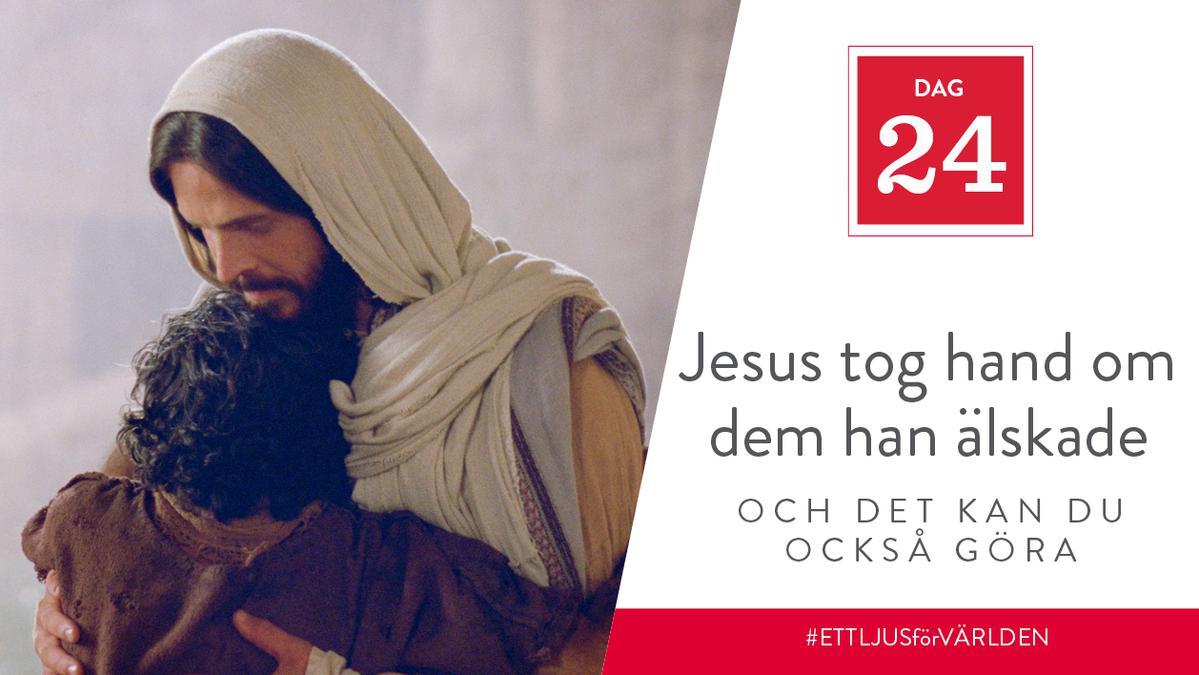 Jesus tog hand om dem han älskade och det kan du också göra
