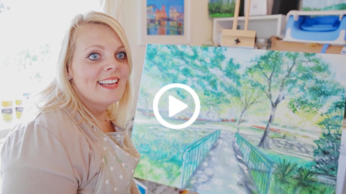 Femme en train de peindre