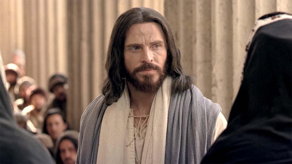 Jésus-Christ réprimande des pharisiens.