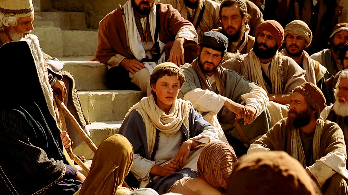 A young Jesus Christ teaches in the Temple.